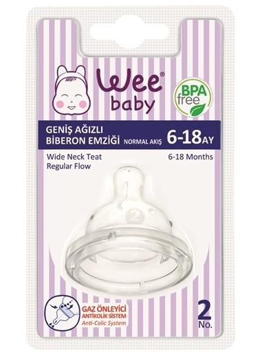 Wee Wee Baby 853 Geniş Ağızlı Biberon Emziği Normal Akış 6-18 Ay Renkli